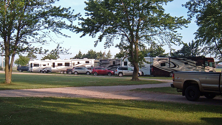 Campsites at Prairie Oasis Campground