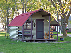 Rental Cabin at Prairie Oasis Campground
